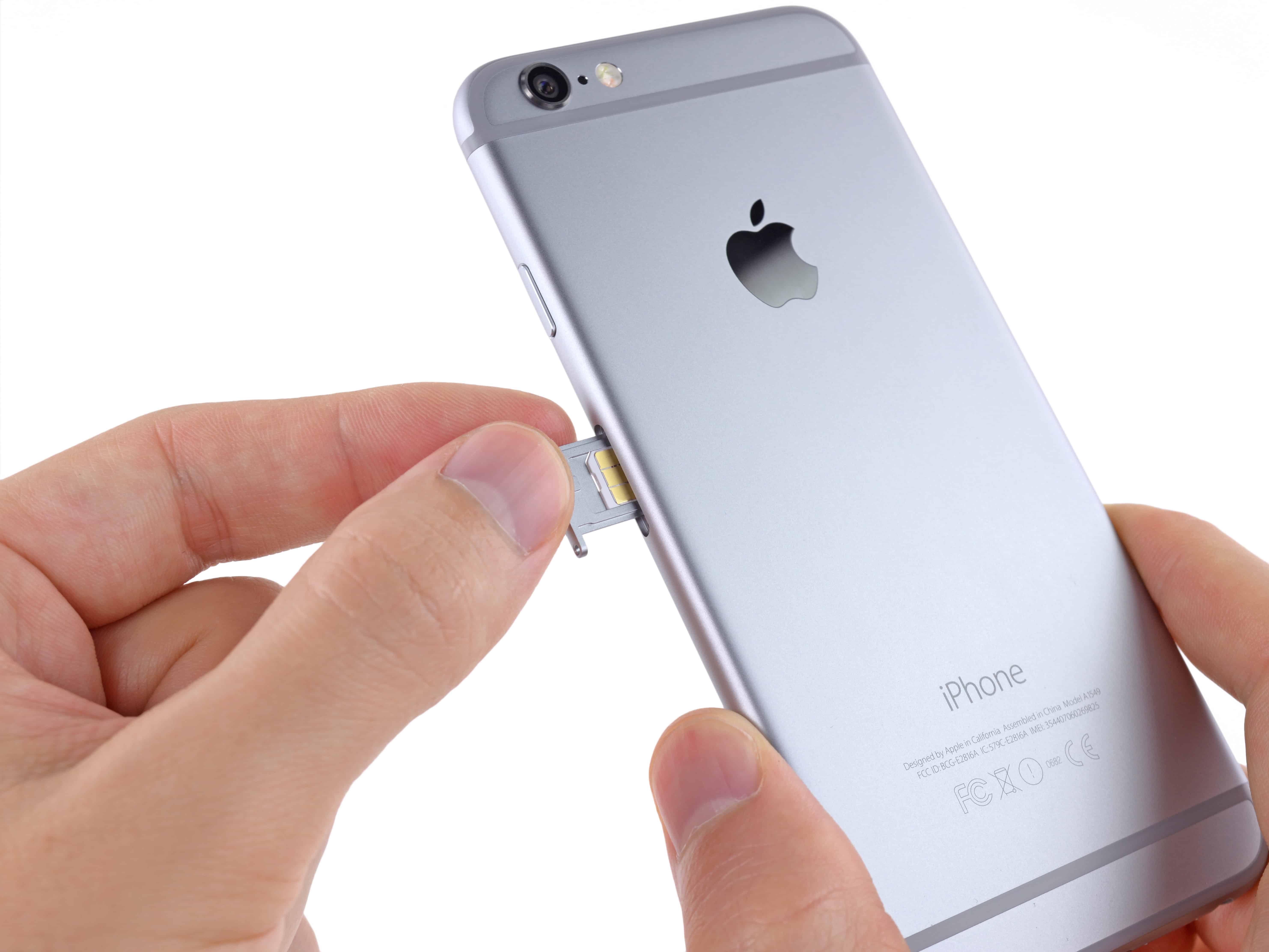 Как сделать сим карту для iphone 6s